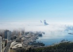 Sea Fog over Málaga Seaport by Ingrid Funk